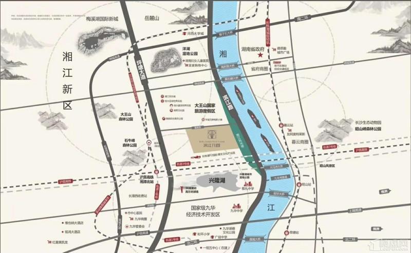 湘潭福晟·滨江花园区位交通图