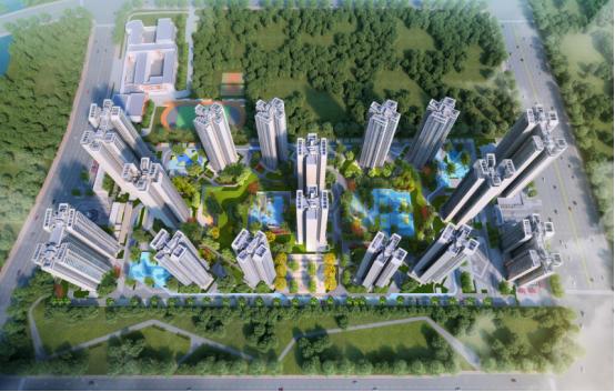 增城佳兆业悦峰项目鸟瞰图
