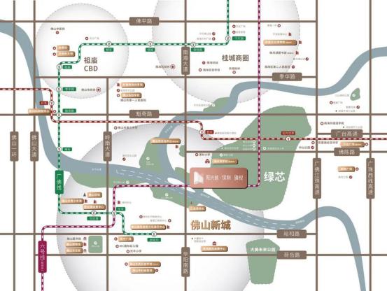 阳光城保利臻悦项目区位图