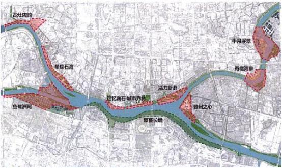 东平河水轴线实施方案十大滨江亮点