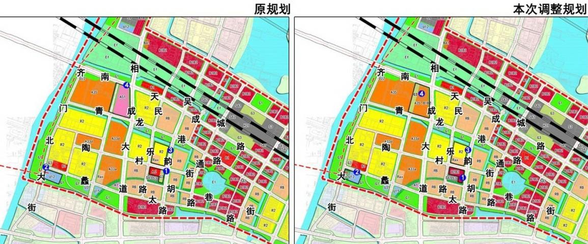 苏州高铁新城南片区基本单元控制性详细规划调整(图1)