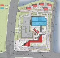 镜湖苏宁广场对面,新增20万方商业、酒店、办公综合体。