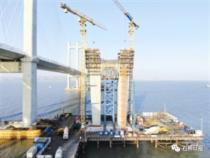 福厦高铁建设最新进展:泉州湾跨海大桥主塔下横梁浇筑完成