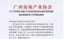 广西房协发布6项通知:各开发企业暂停开放商品房售楼部!
