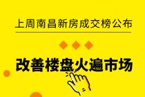 上周南昌新房成交榜公布 改善楼盘火遍市场