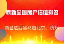 最新全国房产估值排名!南昌这匹黑马超北京、杭州