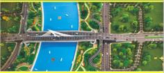 真武路潇河大桥主线贯通