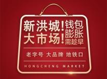 【新洪城大市场】老字号、大品牌,地铁口的吸金旺铺!