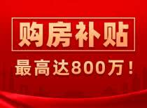 30多地推出购房补贴政策,最高达800万!