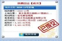 新乡朗公庙一宗土地成交 总价6463.62万元