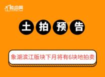 【樓盤網早報2020.7.26】象湖濱江版塊下月將有6塊地拍賣