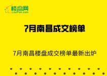 【楼盘网早报2020.8.1】7月南昌楼盘成交榜单最新出炉