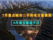 7月重点城市二手房成交量微涨 8月成交量或下行