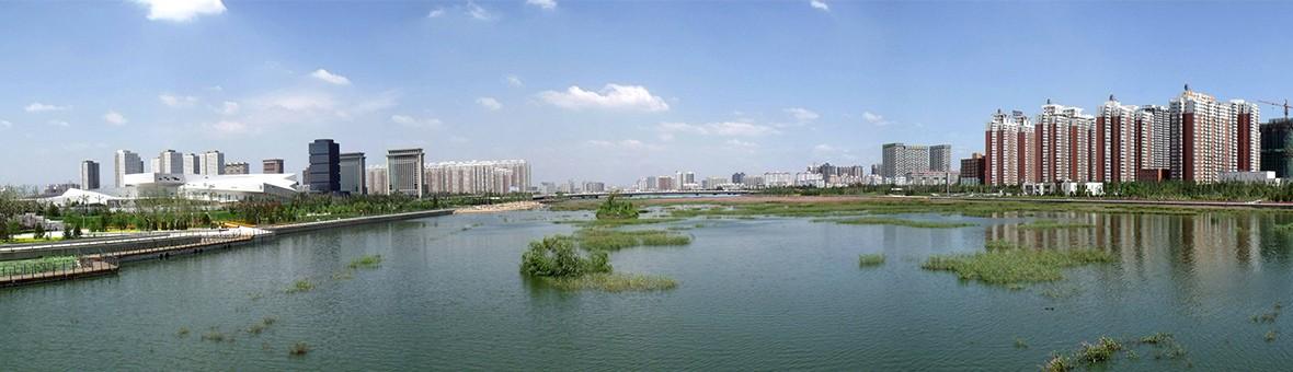 汾河流域治理美化工程效果显著 太原河景房来了!