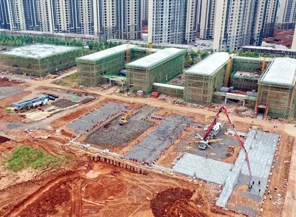 萍乡玉湖学校现场航拍图曝光,已经建了......