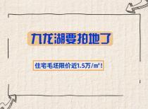 九龙湖要拍地了,住宅毛坯限价近1.5万/㎡!