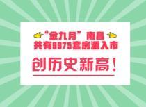 """""""金九月""""南昌共有9975套房源入市,创历史新高!"""