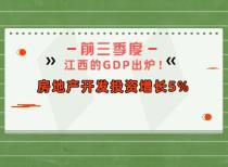前三季度江西的GDP出炉!房地产开发投资增长5%