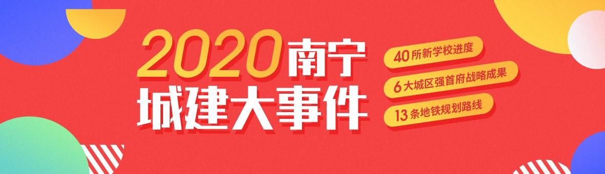 2020年南宁城建篇:6大城区强首府战略成果+超319个城建项目进度+40所新学校进度!