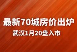 全国最新70城房价出炉,武汉1月楼市20盘入市