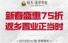 新春盛惠75折,4518元/㎡起