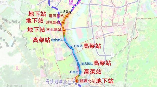 长沙地铁3号线南延线湘潭段周边有哪些楼盘?