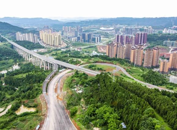 视觉!巴广渝高速兴文互通预计今年底完成项目建设