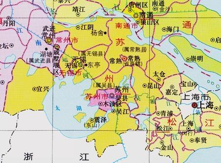 苏州市行政区划历史沿革一览_2021年6月最新