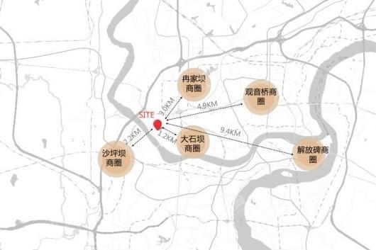 大石坝,手握江北的两大核芯资产