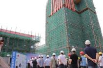 广元三江新区白龙坪雾棚户区改造项目又有新进展,主体结构已完成封顶!