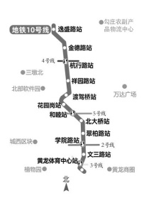 杭州地鐵10號線一期和睦站至逸盛路站一次送電成功
