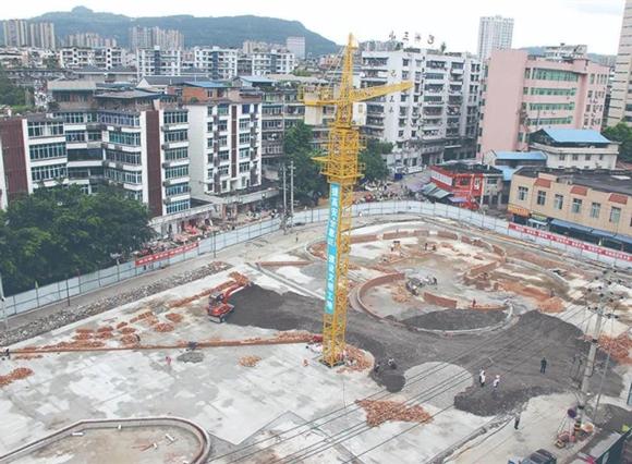 巴城首個文化藝術廣場,力(li)爭(zheng)國慶節前完(wan)工開放