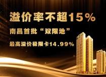 """溢價率不超15%!南昌首批""""雙限地""""最高溢價極限卡14.99%"""