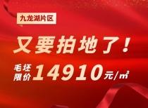 九龍湖片區又要拍地了!毛坯限價14910元/㎡