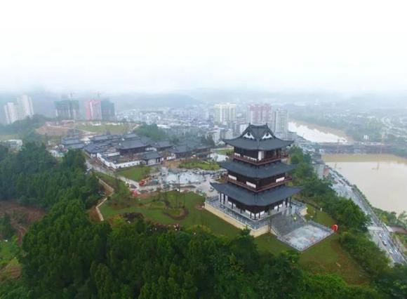 建設進度達98%!恩陽(yang)登科山公園即將建成開園