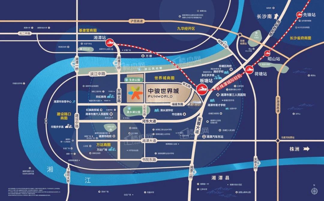 中骏世界城位置图
