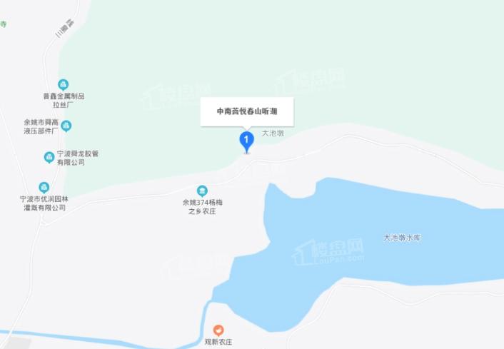 中南菩悦春山听湖位置图