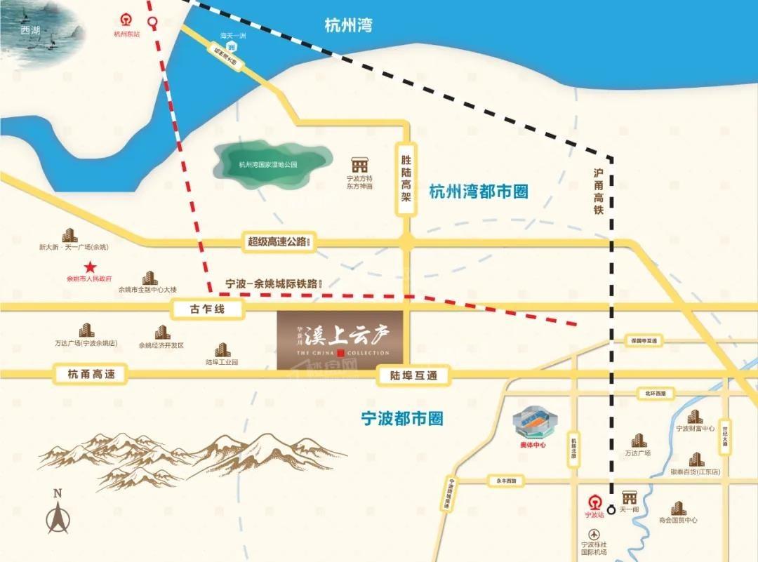 华景川溪上云庐位置图