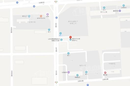 城投东方公馆交通图