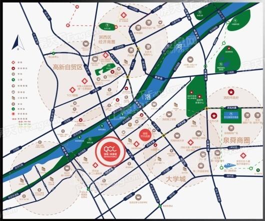 银隆青春里交通图