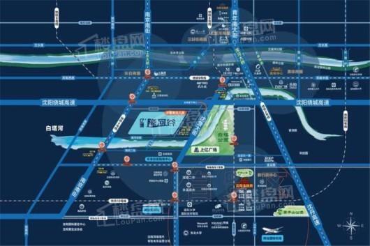 亿博隆河谷交通图