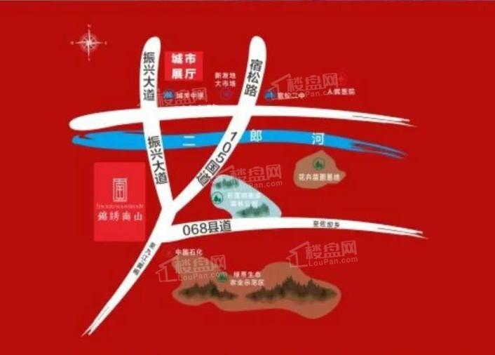 锦绣南山位置图