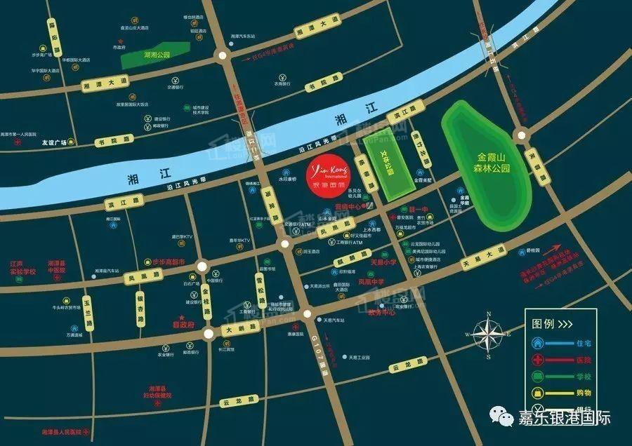 银港国际·御西岸位置图