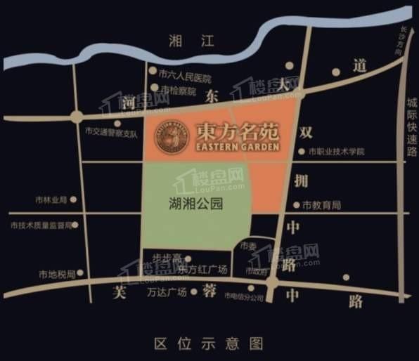 东方名苑首府位置图