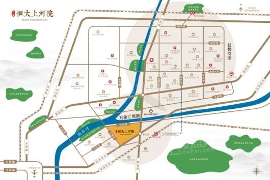 北京恒大上河院交通图