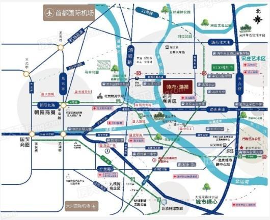 帅府·潞苑交通图