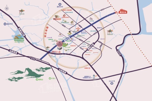 潮安碧桂园·星钻交通图