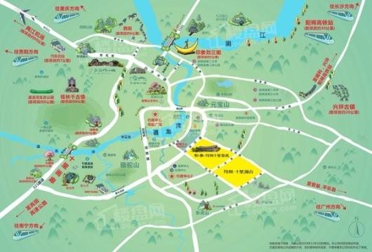 彰泰·阳朔十里澜山交通图