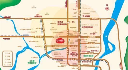 睿翔·瑞园交通图