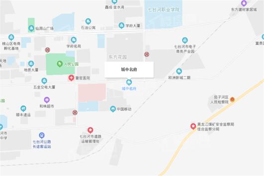 城中名府交通图